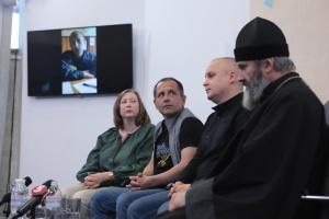Перша після звільнення пресконференція Володимира Балуха