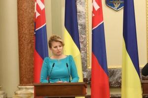 Caputova: Slowakei unterstützt Sanktionen gegen Russland, bis Abkommen von Minsk umgesetzt sind