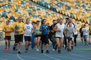 Ветераны АТО/ООС и знаменитые легкоатлеты Украины провели совместную тренировку