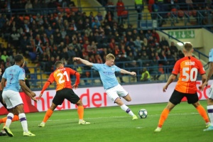 Shakhtar Donetsk loses to Manchester City in Champions League