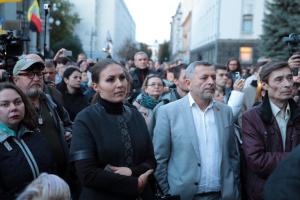 大統領府前で「シュタインマイヤー・フォーミュラ」反対集会開催