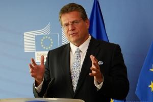 Šefčovič : Kyiv et Moscou devraient trouver une solution équilibrée sur les volumes de transit du gaz