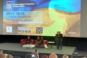 """Цикл документальних фільмів """"Неzламні"""" показали у Вільнюсі"""