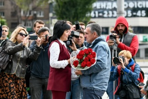"""В Запорожье встретили освобожденного """"крымского диверсанта"""" Панова"""