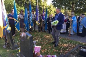 Пам'ятник учаснику бою під Крутами Євтимовичу встановили у Дербі
