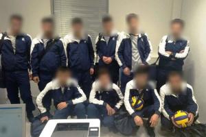 В Греции арестовали группу мигрантов, назвавшихся украинскими волейболистами