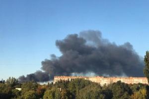 In besetztem Donezk brennt Munitionslager der Terroristen