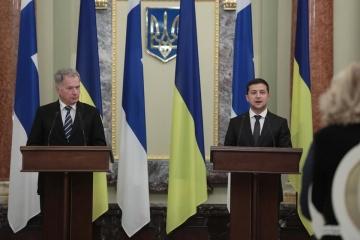 【宇フィンランド首脳会談】ゼレンシキー大統領、フィンランドとの軍事協力推進で合意と発言