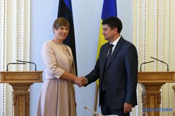 Razumkov agradece a la presidenta de Estonia por su posición sobre Ucrania