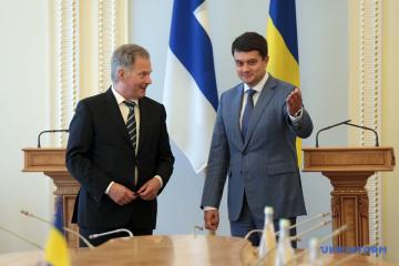 Razumkov thanks Finnish president for support of Ukraine
