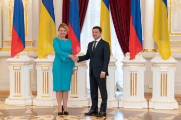 Zuzana Čaputová, Présidente de la République slovaque, est en visite officielle en Ukraine (vidéo, photos)