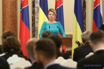 スロバキアはミンスク諸合意履行まで対露制裁を支持する=チャプトヴァー大統領