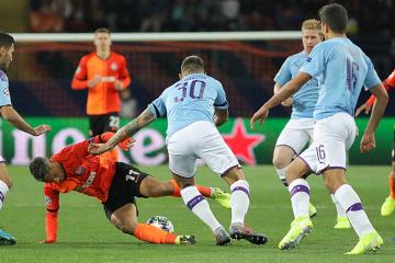 El Shakhtar pierde ante el Manchester City en la UEFA Champions League (Fotos)