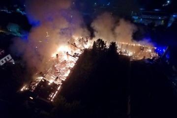 Un incendie ravage l'hôpital militaire de Loutsk