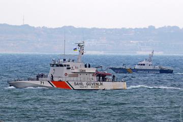 オデーサ港にトルコの沿岸警備艇寄航 共同訓練に向け
