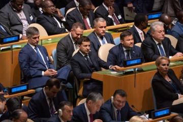 Zełenski uczestniczył w otwarciu 74. sesji Zgromadzenia Ogólnego ONZ