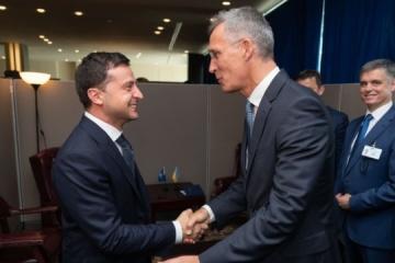 Zełenski spotkał się z Sekretarzem Generalnym NATO w Nowym Jorku