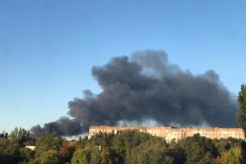 ドネツィク市で爆発音・黒煙 「DPR」弾薬庫で火災