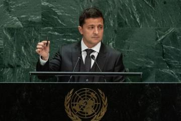 Prezydent Ukrainy pokazał ONZ pocisk, który zabił Wasyla Slipaka