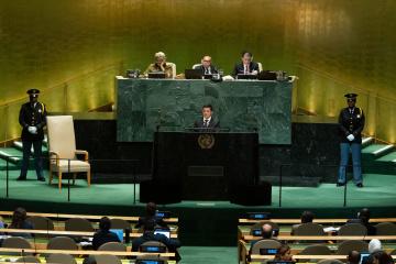 Zełenski przemawia na Zgromadzeniu Ogólnym ONZ