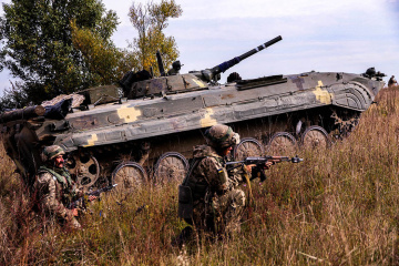 Russian-led forces launch 32 attacks in Donbas. One Ukrainian soldier killed