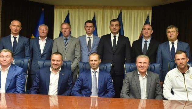 Президент УЕФА высоко оценил развитие футбольной инфраструктуры в Украине