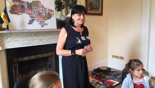 Тетяна Протчева презентувала в Ірландії інтелектуальну вишивку і