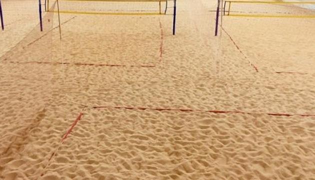 В Сумах открыли первый в Украине центр пляжного волейбола