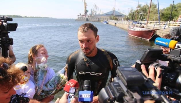 Пловец Михаил Романишин установил новый рекорд Украины, преодолев Днепр