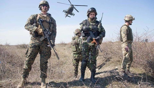 Ukrainian marines take part in exercise Platinum Eagle 2019