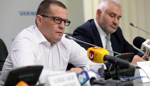 Перша після звільнення пресконференція Романа Сущенка та Марка Фейгіна