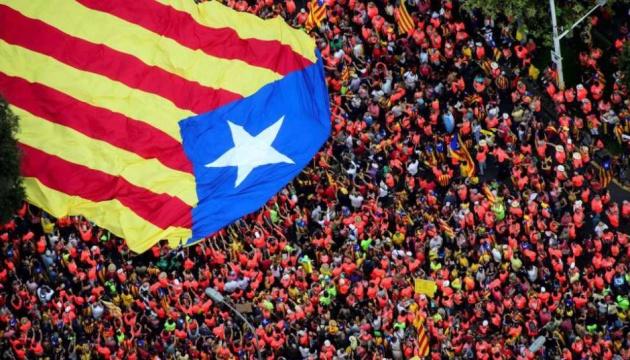 На мітинг за незалежність Каталонії вийшли сотні тисяч людей