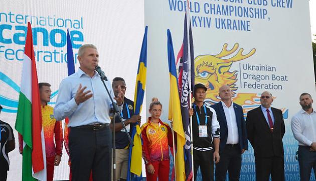 Сергій Бубка привітав учасників клубного ЧС з веслування на човнах