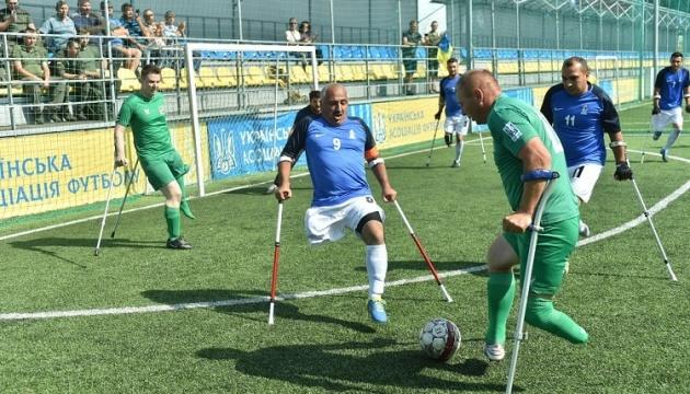 Ветерани бойових дій України та Азербайджану провели товариський матч з ампфутболу
