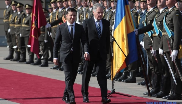 Zelensky, Niinisto holding meeting at Mariinsky Palace