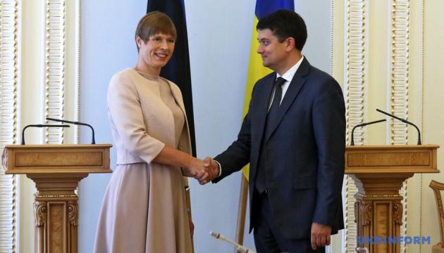 Razumkov thanks Estonian president for position on Ukraine