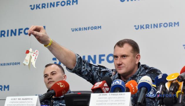 Пресконференція незаконно утримуваних у  РФ  військовополонених моряків