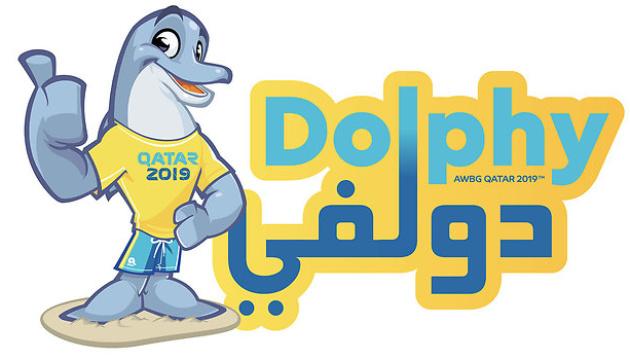 Дельфин Долфи стал талисманом І Всемирных пляжных игр в Дохе