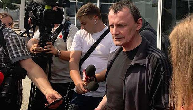 Пресконференція звільненого політв'язня Карпюка в Укрінформі