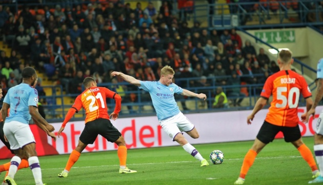 Shakhtar Donetsk lose to Manchester City in Champions League