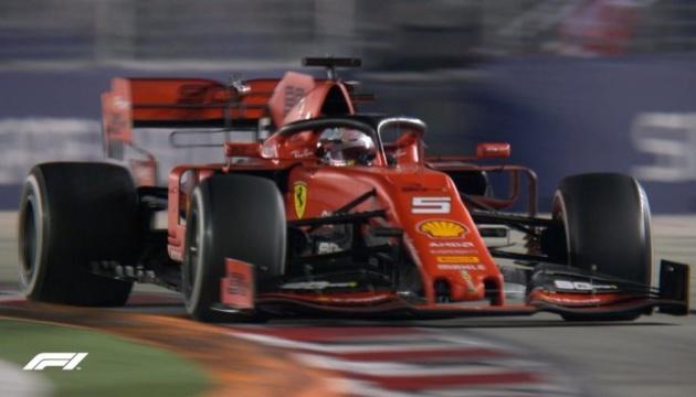 Формула-1: Феттель выиграл Гран-при Сингапура