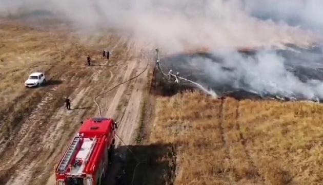 Пожежу на полігоні в Чугуєві остаточно загасили