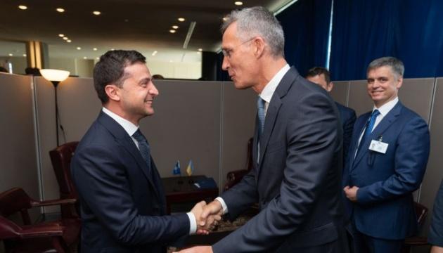 Зеленский встретился в Нью-Йорке с генсеком НАТО