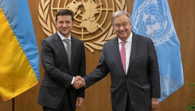 Зеленський зустрівся у штаб-квартирі ООН з Гутеррешем