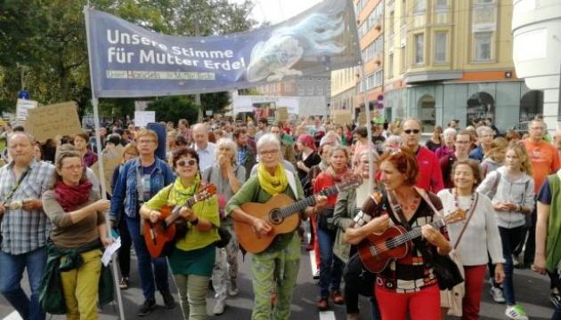 В Австрії пройшли рекордні кліматичні демонстрації
