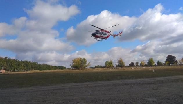 В Умань доставили вертоліт для екстреного транспортування хворих хасидів