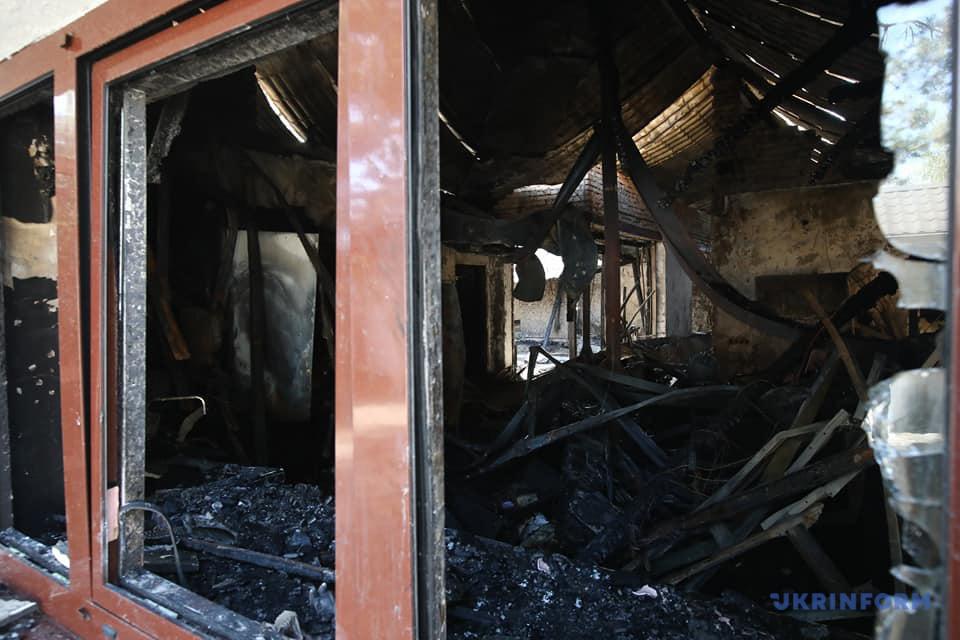 В Гореничах сгорел дом Гонтаревой / Фото: Владимир Тарасов, Укринформ