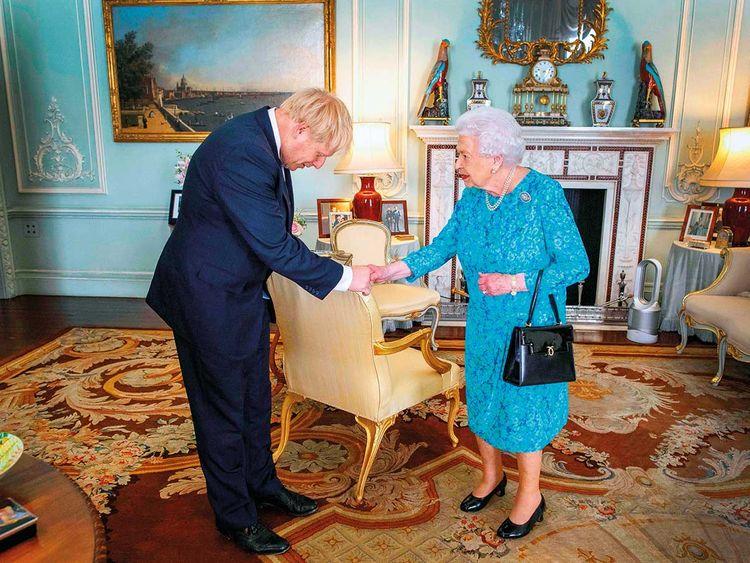 Борис Джонсон у королеви Британії Єлизавети II