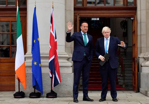 Прем'єр-міністр Ірландії та Британії Лео Варадкар і Борис Джонсон
