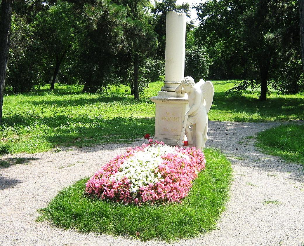 19. Кенотаф Моцарта - наиболее известное захоронение кладбища Святого Марка